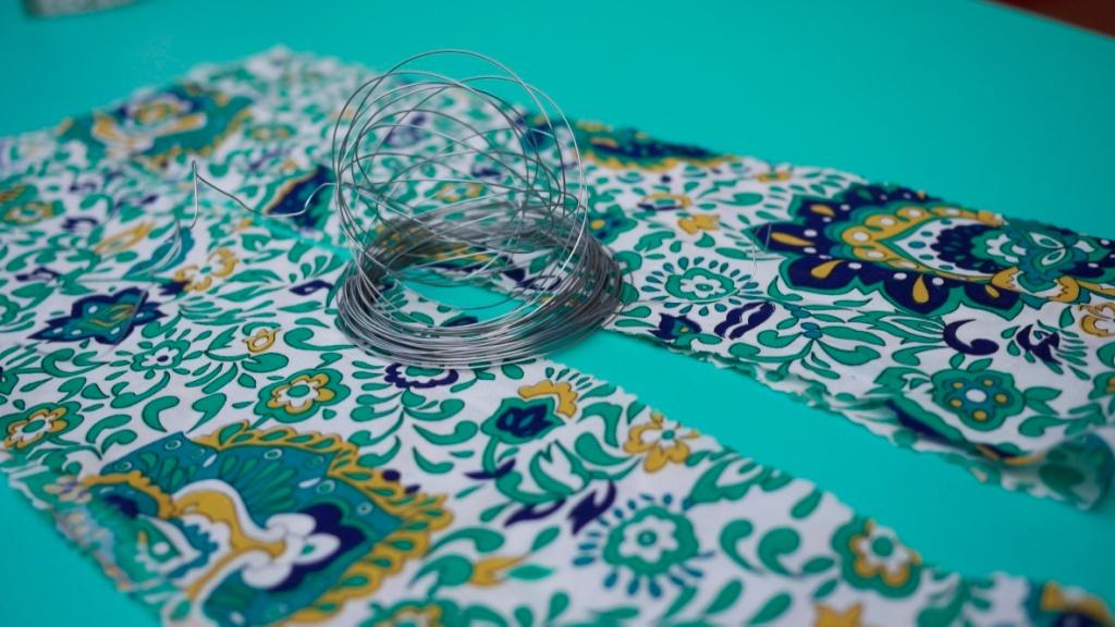 Como hacer una bandana con alambre