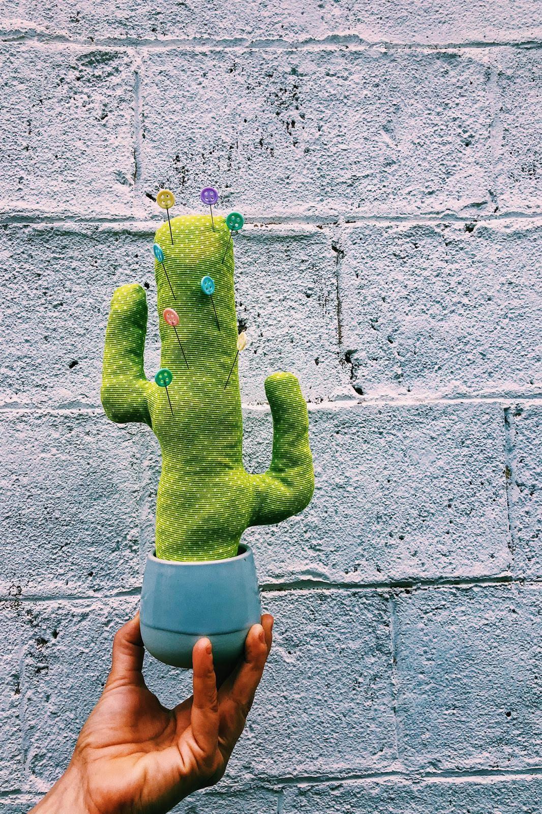 Cactus de tela DIY